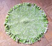 karen's green wagon wheel rug