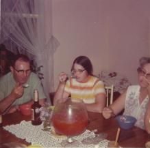 Dad Susan Mom_April 1973_eating homemade ice cream with that fr