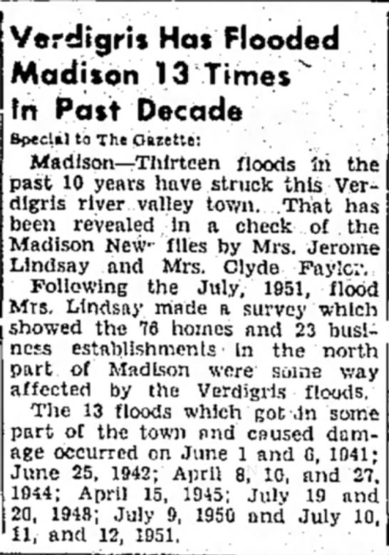 flood madison 1951