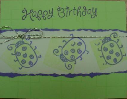 shannon's ladybug card 2