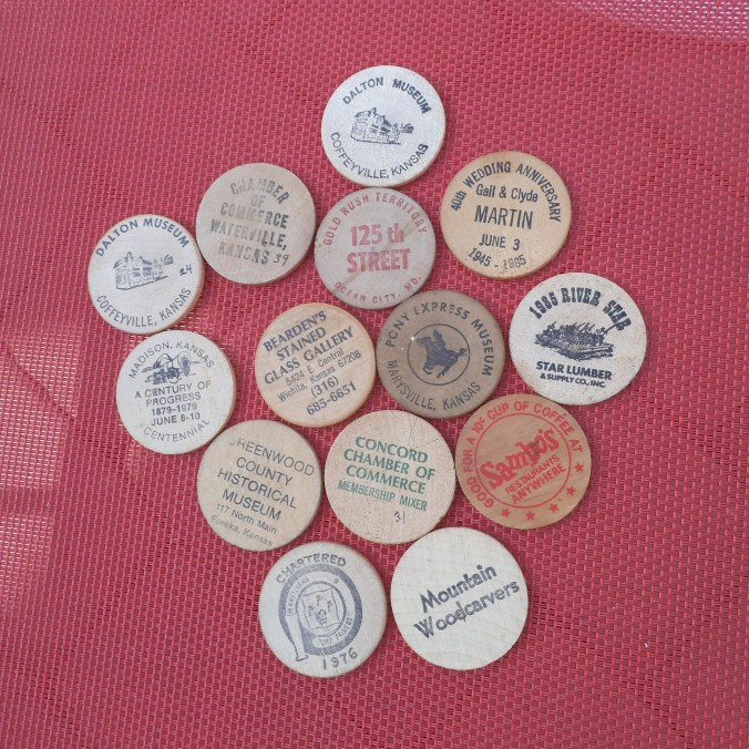 wooden nickels - advertising