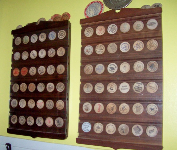 wooden nickle collection
