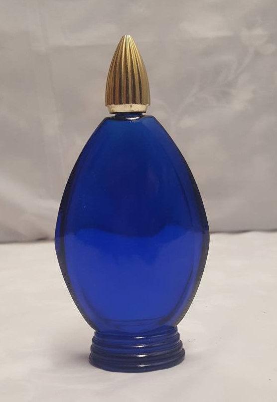 blue perfume bottle- etsy