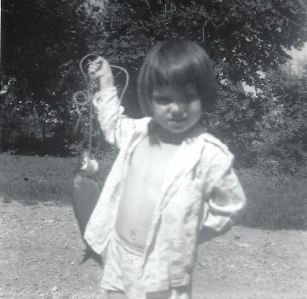 toddler shannon and fish June 1963, may be late development