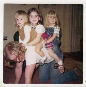 Owen Martin, Christmas 1973, with nieces April and Robin Calhoun and Kristy Ross.