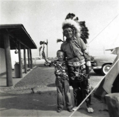 Owen (Butch) Martin with Indian Chief Nukegri June 1954