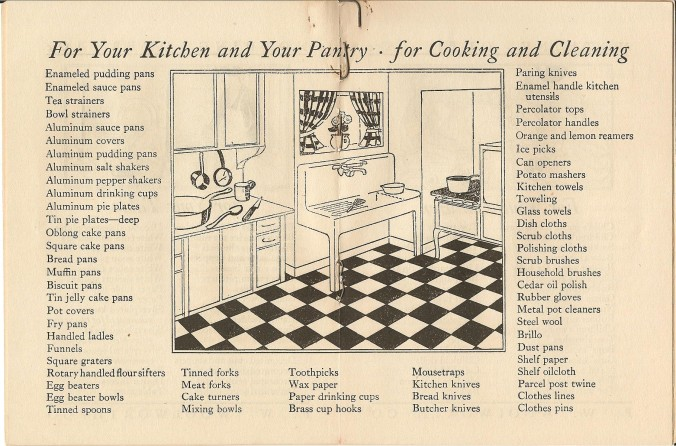 Woolworth's booklet of kitchen supplies