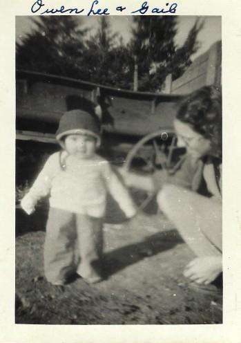 Toddler Owen and Gail Martin