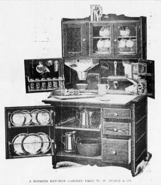 1909 hoosier cabinet from newspapers.com 2