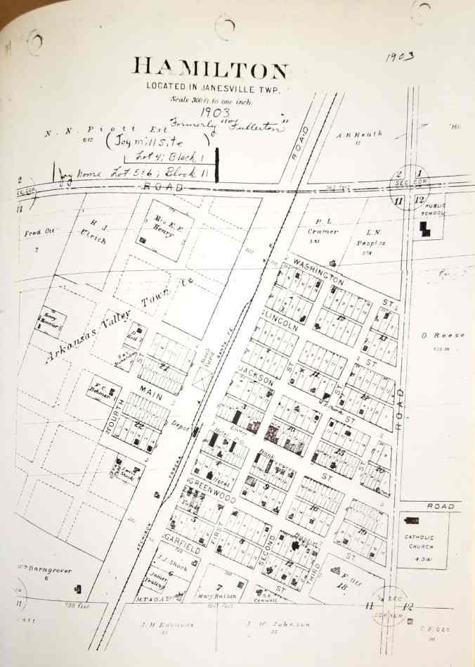 Hamilton ks map, joy mill site, home