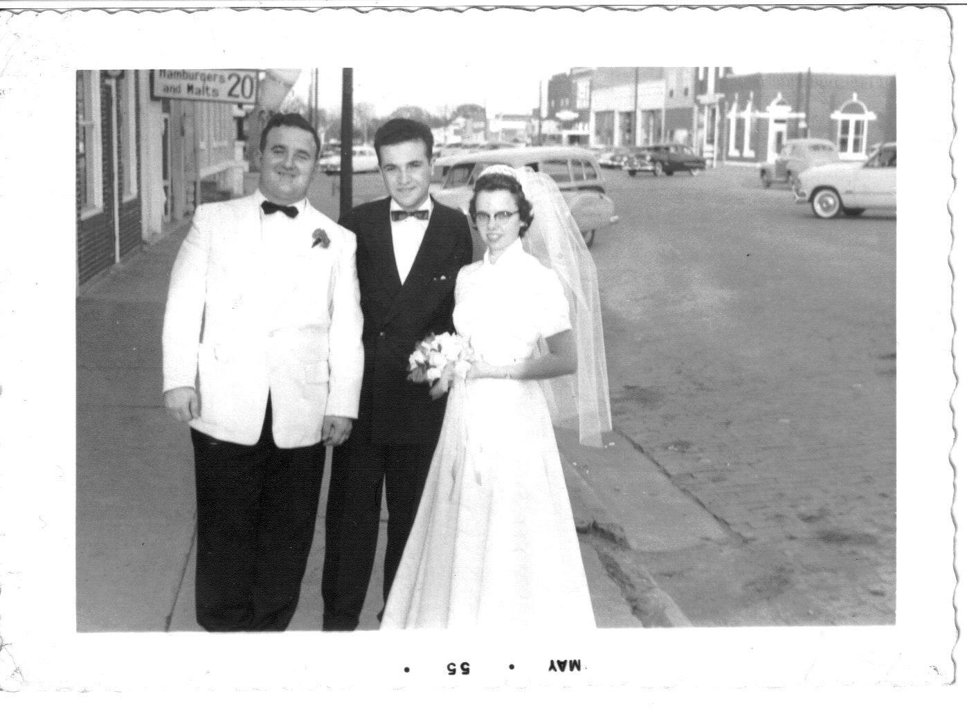 cj mcghee and floyd wedding -street scene
