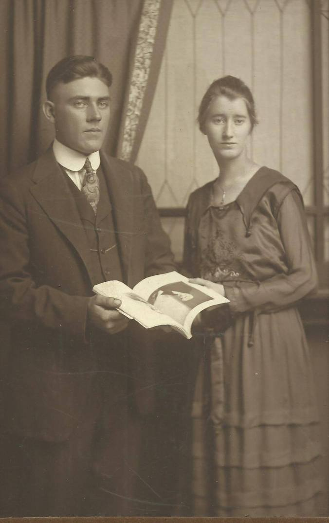 Edwin and Blanche Hatton. Inscribed to Clarence and Ruth (Vining) McGhee, September 29, 1918.