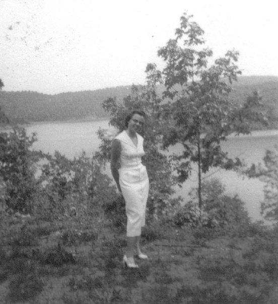 1955 cj garriott at lake of the ozarks honeymoon