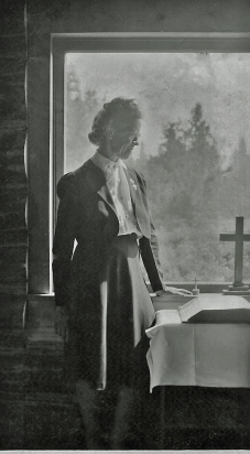 Bertha McGhee in Hope, Alaska.