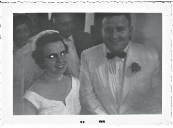 cj and floyd garriott wedding 1955