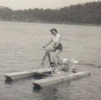 CJ on honeymoon at lake of the ozarks 1955