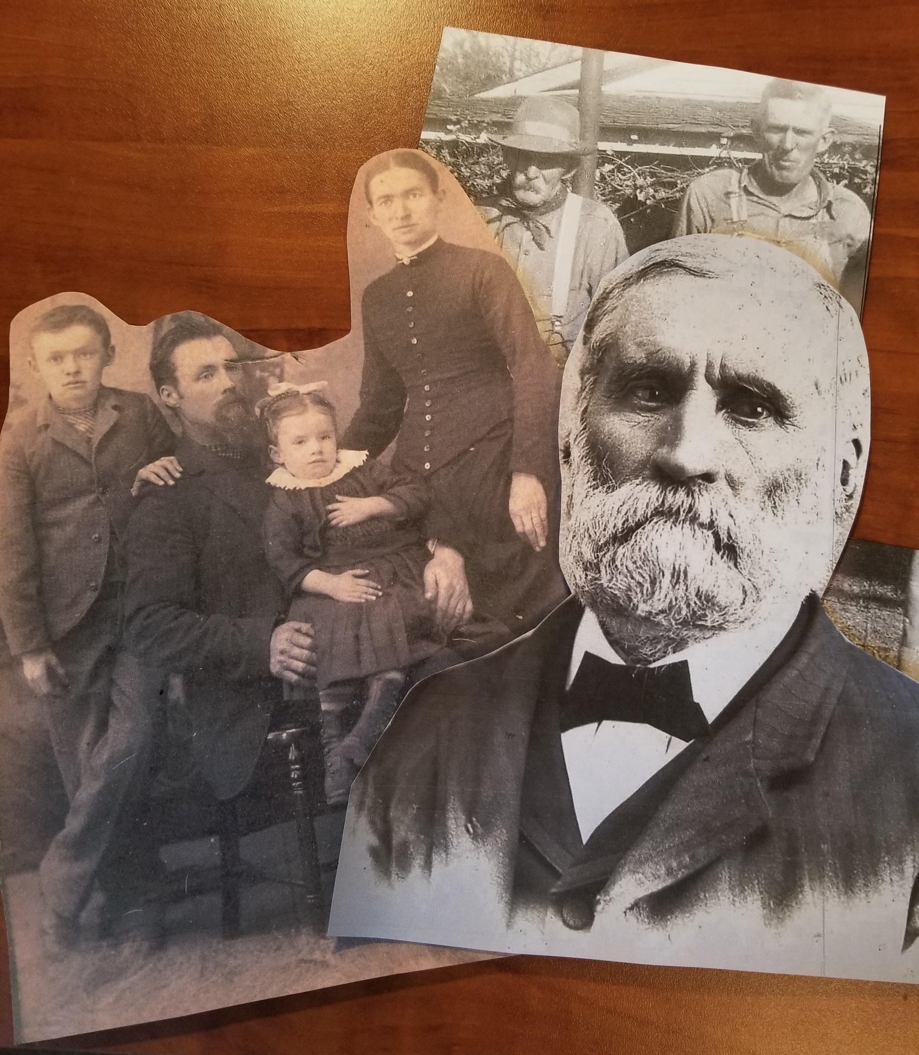 Harlan, kennedy, ancestors collage cutouts
